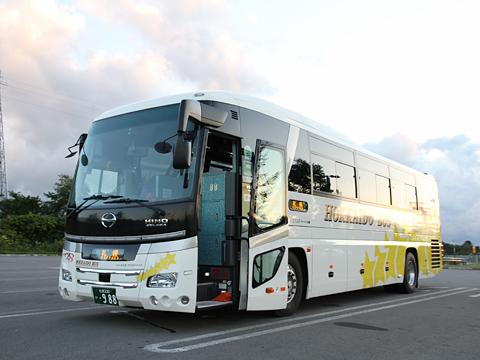 北海道バス「函館特急ニュースター号」 ・988<br /> 八雲PAにて その1