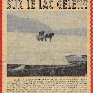 Hivers 1956-1963-2012 sur le lac gelé