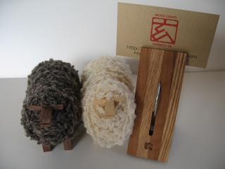 木のセンタクバザミ(大) big wood clip