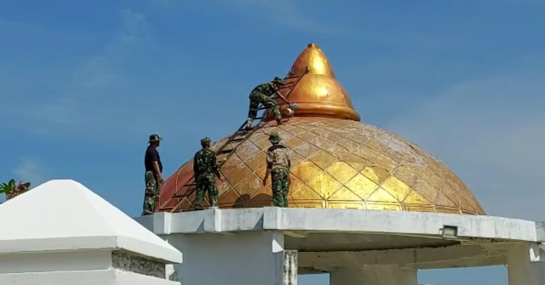 Pangdam XIV/ Hasanuddin Memimpin Lansung Kegiatan Perbaikan Dan Pembersihan Makam Sultan Hasanuddin