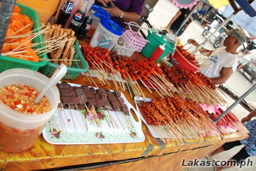 Isaw stand at Baler Public Market