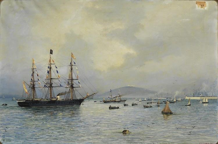 NAVAS DE TOLOSA Llegada a Barcelona tras el exilio de Alfonso XII.jpg