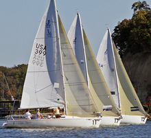 J/80 one-design sailboat- sailing