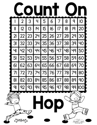 Counting On free math game and hundreds chart