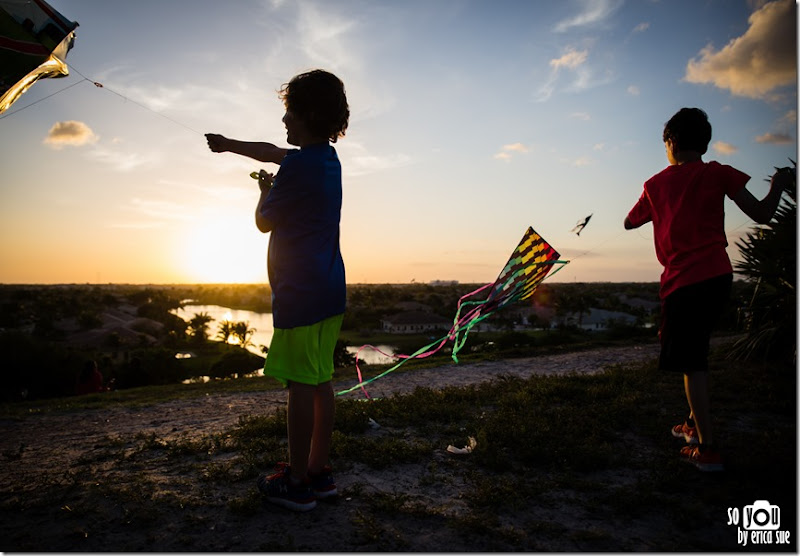 Kite Sunset silhouette-8601