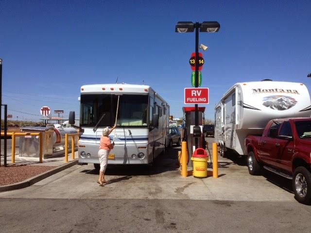 RV fueling, Pilot truck stop, RV fuel island, Tucson, AZ truck stop