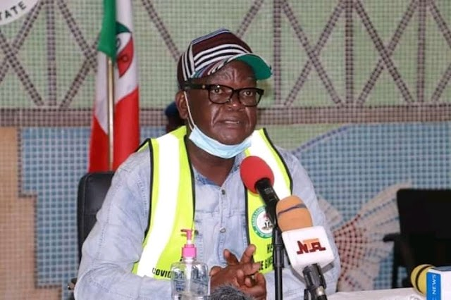Benue State News: Governor Samuel Ortom Eases Lock down in the State.