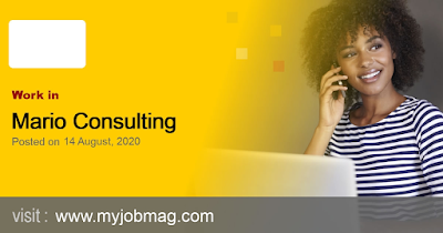 JOB VACANCY!  Mario Consulting Limited is recruiting for fulltime Nutritionist.