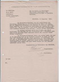 Brief van Gemeente Enschede waarbij Joodse kinderen van niet-joodse scholen wordt gestuurd. http://www.secondworldwar.nl/enschede/