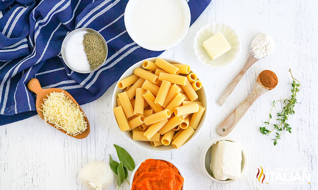 pasta with pumpkin sauce ingredients