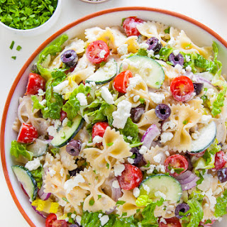 20-Minute Greek Pasta Salad.
