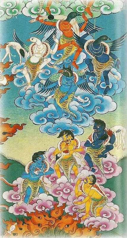 Thangkas painted by Shawu Tsering and photographed by Jill Morley Smith are in the private collection of Gyurme Dorje.