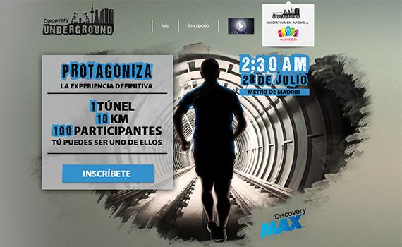 Discovery Underground, una carrera de 10 km por los túneles del Metro de Madrid