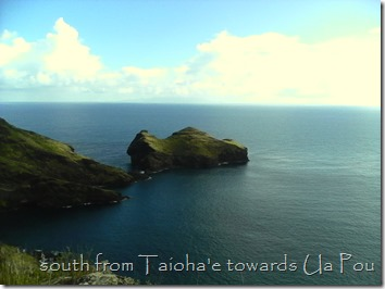 Taioha'e East Sentinal towards Ua Pou