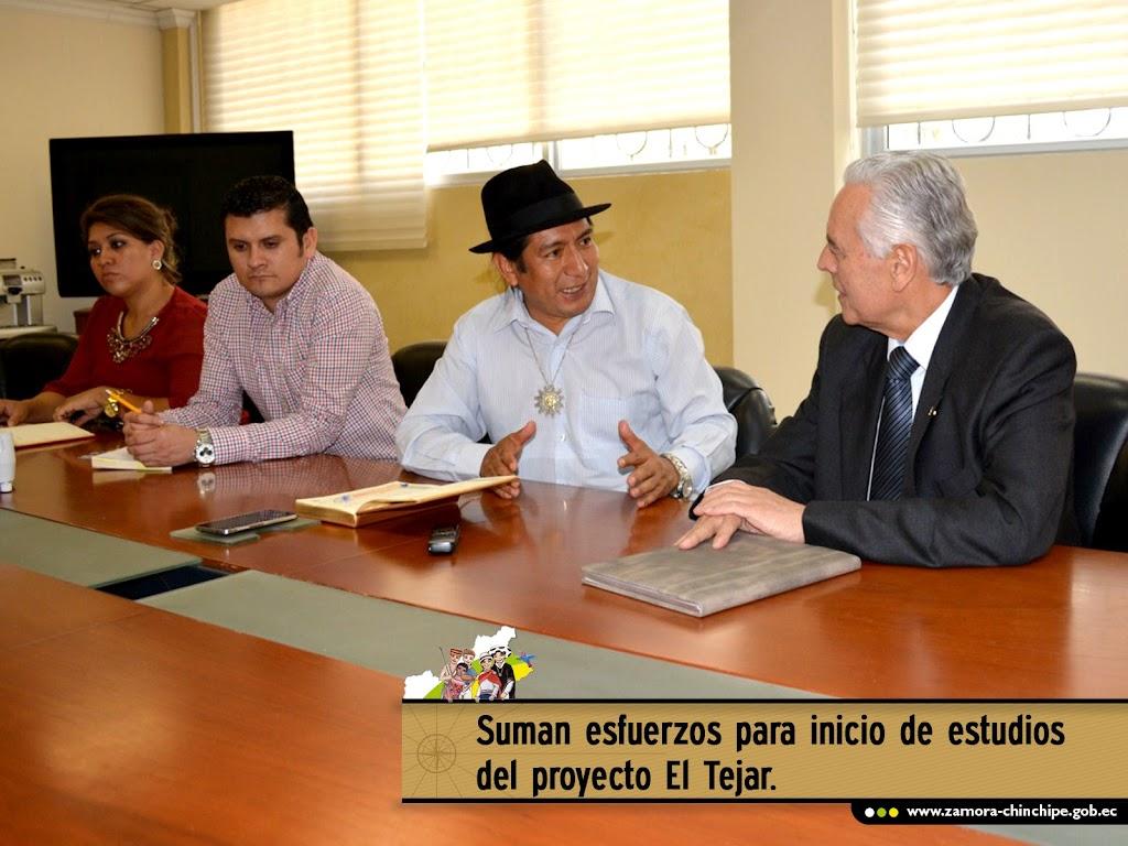 SUMAN ESFUERZOS PARA INICIO DE ESTUDIOS DEL PROYECTO EL TEJAR.