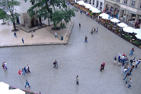 Our view from the Krakow hostel common room window