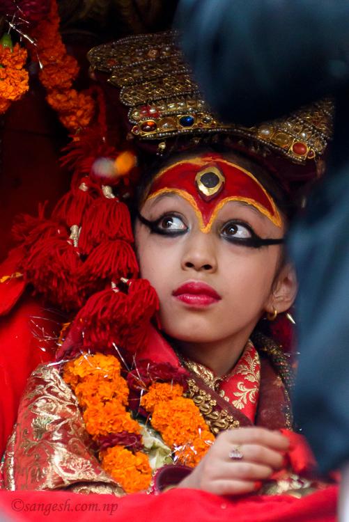 kumari, living, goddess, nepal , kathmandu