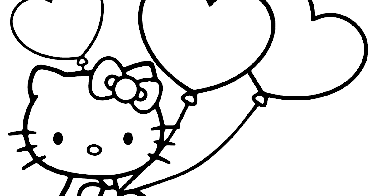 Top 10 Hello Kitty Balloons Coloring Pages Free