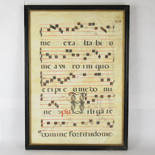 Antique Hand-Painted Musical Score Page