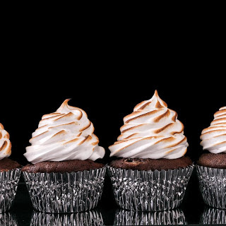 Chocolate Cupcakes with Toasted Marshmallow Frosting