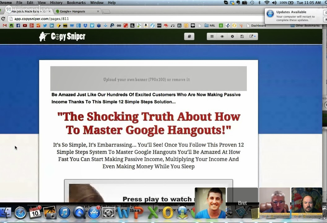 Copy Sniper Review Shocking Truth about Mastering Google Hangouts