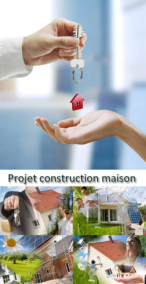 Stock Photo: Projet construction maison