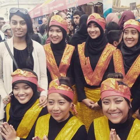 Desi girl's blog at the Eid festival, Trafalgar Square