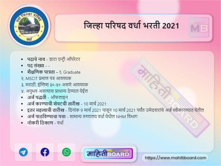 ZP Wardha Bharti 2021