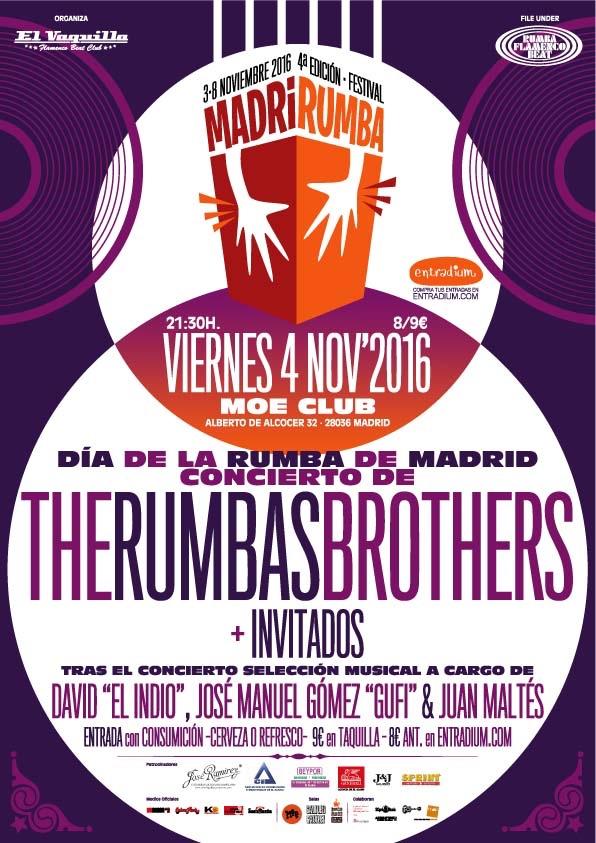 MadriRumba 2016 Cartel Concierto The Rumbas Brothers