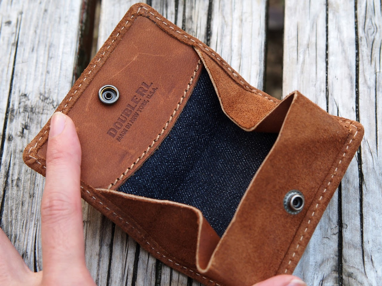 RRL / Roughout Leather Coin Wallet