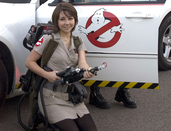 Cute Ghostbusters Cosplayer Monday