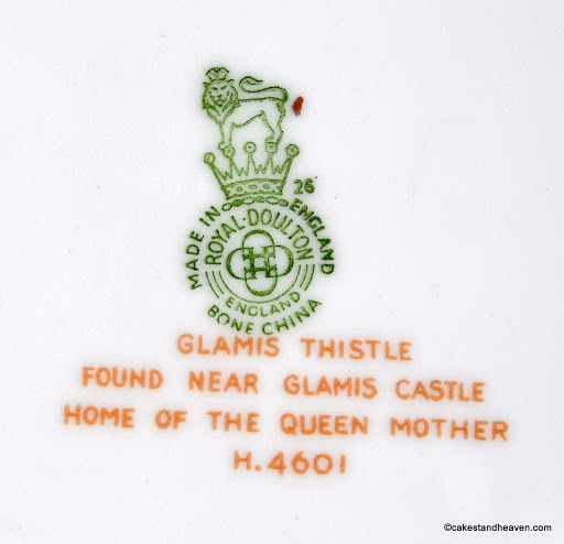 Royal Doulton Glamis Thistle H.4601 backstamp