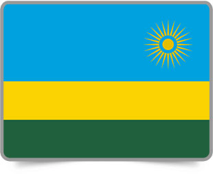 Rwandan framed flag icons with box shadow