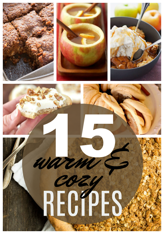 15 Warm & Cozy Recipes at GingerSnapCrafts.com #recipes #gingersnapcrafts