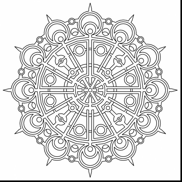 Magnificent Geometric Mandala Coloring Pages With Mandala Coloring Pages  For Adults And Mandala Coloring Sheets For