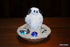 214 - Sandy Bisy - 2008 H 19 X Ø 22 - Résine avec billes de cristal