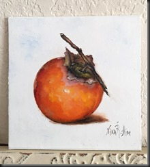 Persimmon with Stem easel