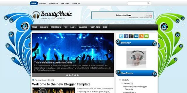 BeautyMusic Blogger Template