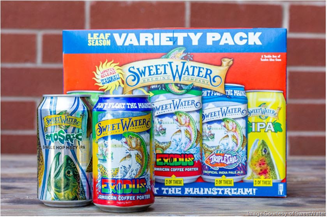 SweetWater Tackle Box Variety Pack Includes 2 New Beers