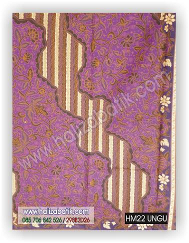Baju Batik Seragam, Seragam Batik Kantor, Model Batik Keluarga, HM22 UNGU