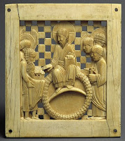 962 - 968 Plaque with Otto I presenting the Cathedral of Magdeburg From the Cathedral of Magdeburg, probably made in Milan, northern Italy - The Metropolitan Museum of Art