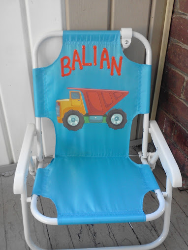 Personalized Beach Chairs mommy's block party: lollipop kids personalized toddler beach