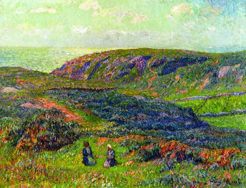 Henry Moret - Conversation in the Moor, 1900