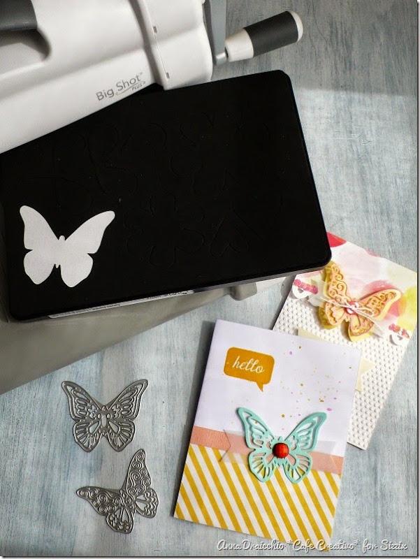 60% economico retrò spedizione gratuita Two Butterfly cards using Big Shot Plus Starter Kit | Anna ...