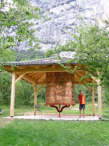 New prayer wheel at Kushi Ling Retreat Center, Italy