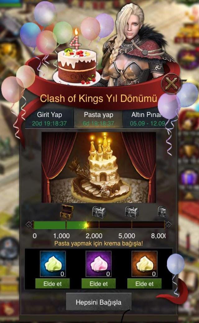 Pasta Yap Etkinliği - Clash of Kings