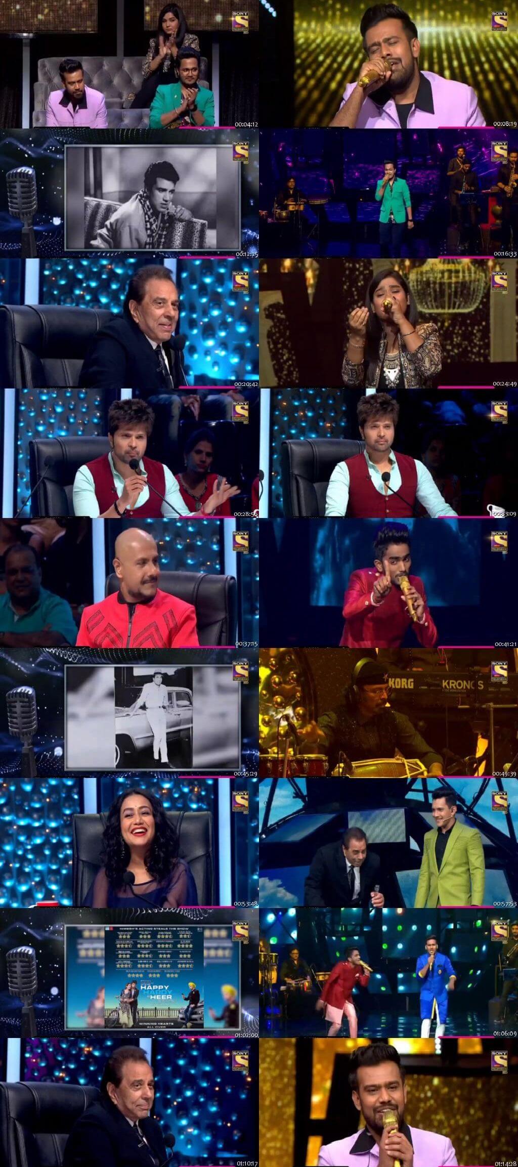 Screenshots Of Hindi Show Indian Idol 9th February 2020 Episode 36 300MB 480P HD