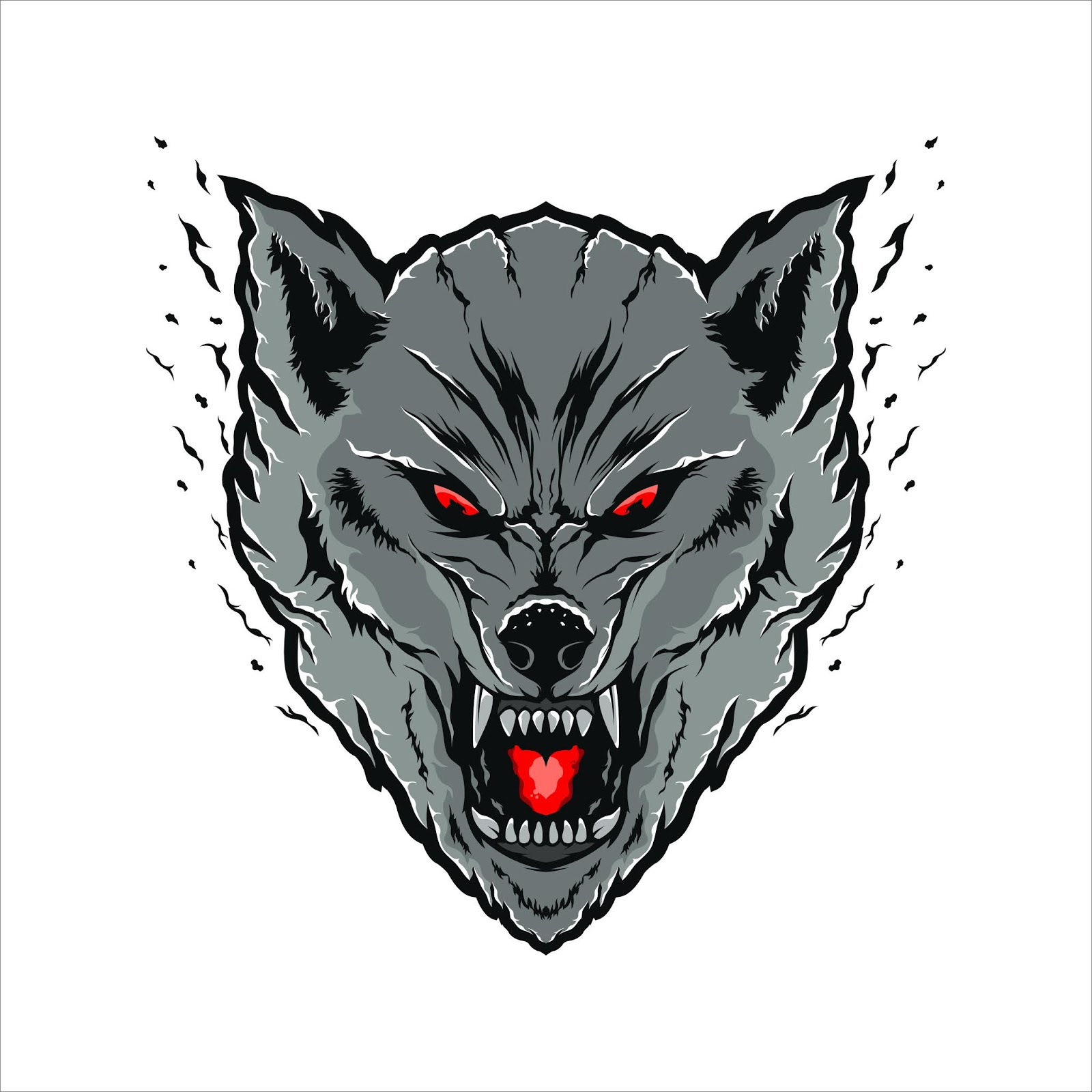 Wolves Head Illustration Free Download Vector CDR, AI, EPS and PNG Formats