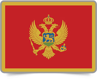 Montenegrin framed flag icons with box shadow