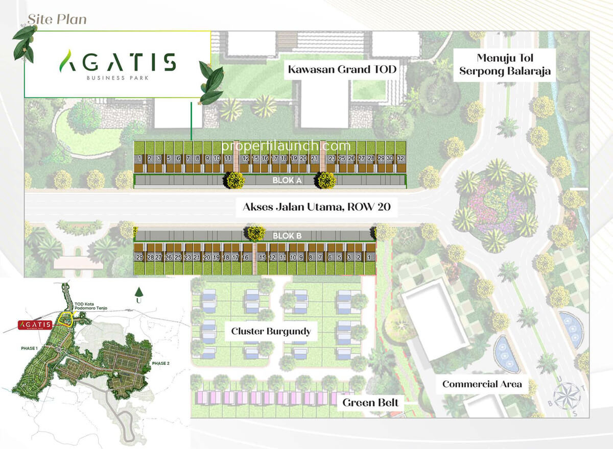 Siteplan Agatis Business Park